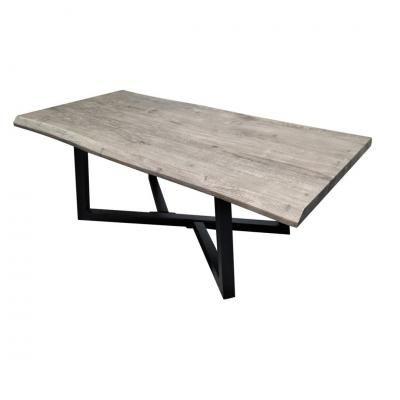 Étkezőasztal szürke fa, 120x60 cm - CASTELO